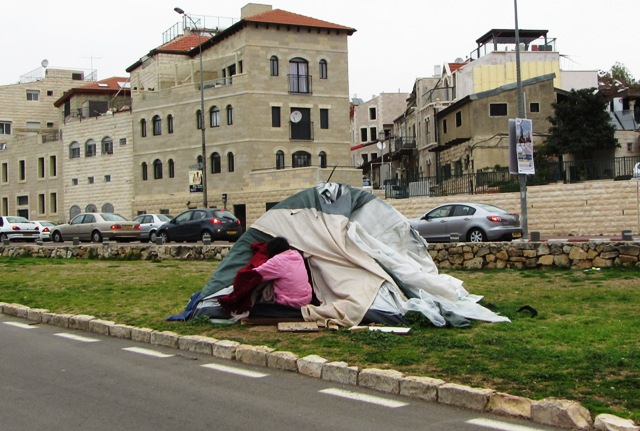occupy tent image, Jerusalem tent city