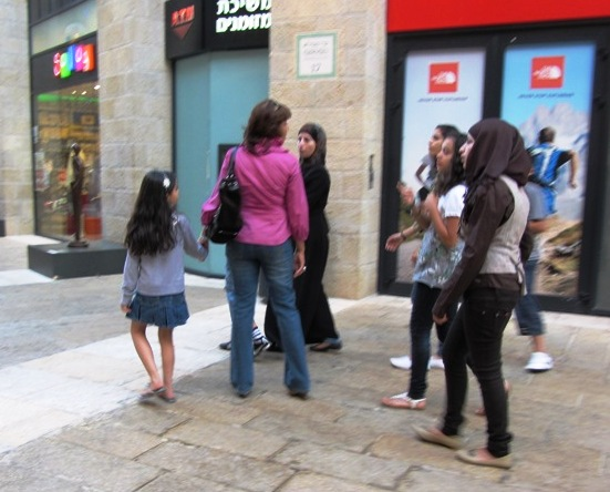 shopping in Mamilla Mall