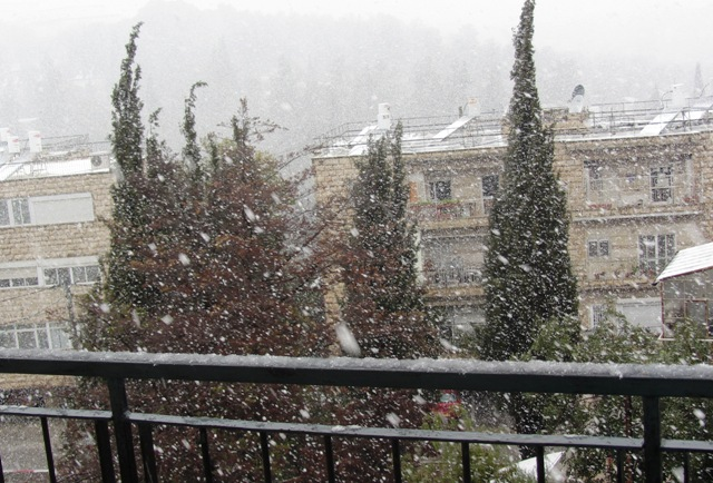 snow  Israel Museum