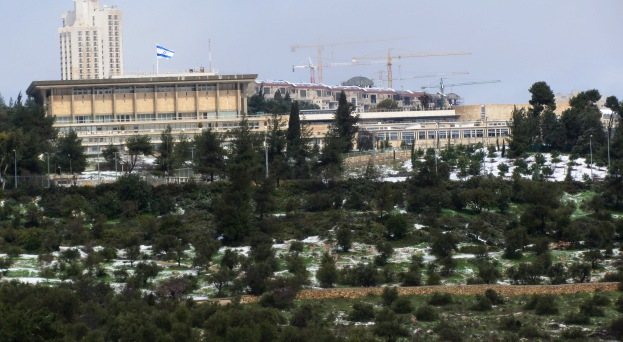 Knesset in the snow