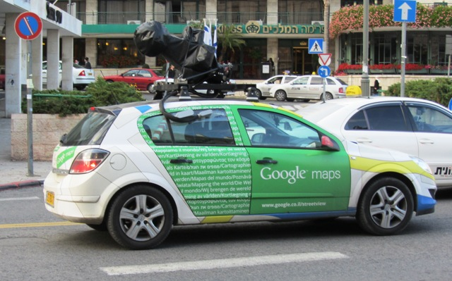 """picture Google car"", ""photo Google car Jerusalem"", ""image Google car"""