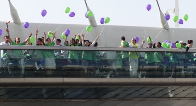 """photo Jerusalem bridge"", ""picture releasing balloons"""