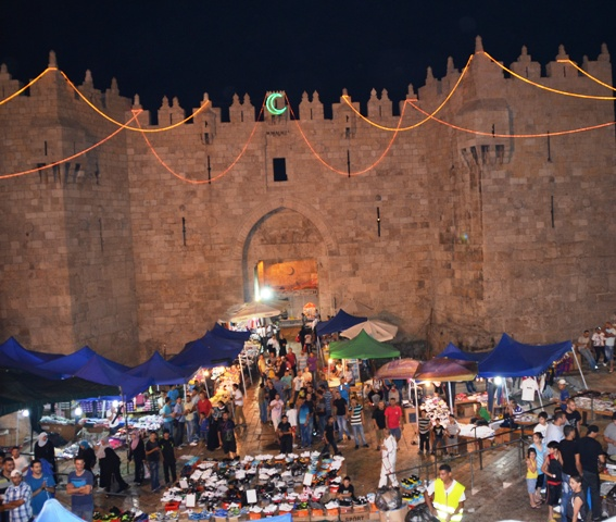 """Damascus Gate photo"", Image Damascus gate,. ""Picture Shear Shcem."