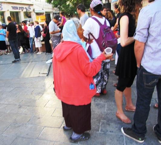 beggar woman, J street