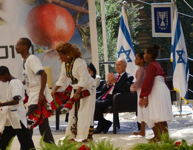 Israel president sukkah
