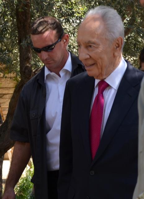 President Shimon Peres sukkah