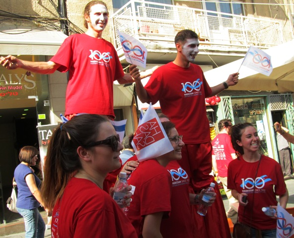 Hadassah , red shirts