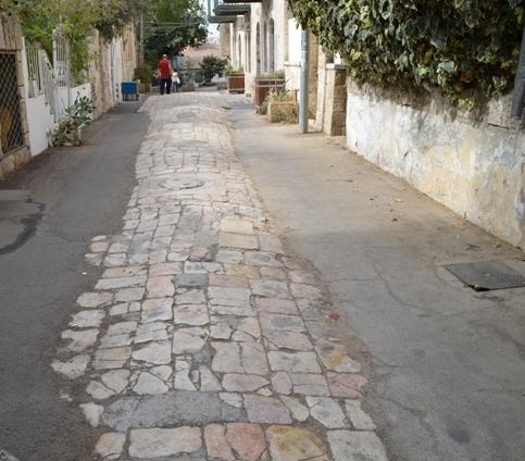 Old stone street, J Street, Jerusalem old street