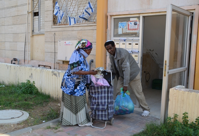 Ethiopian couple in Kiryat Malachi