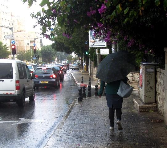 Jerusalem rain, J Street, Jerusalem photos