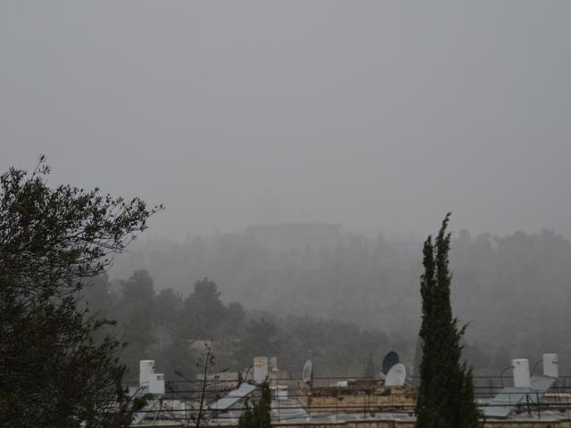 storm in Jerusalem