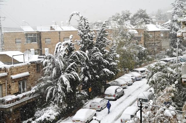 Jerusalem photo snow