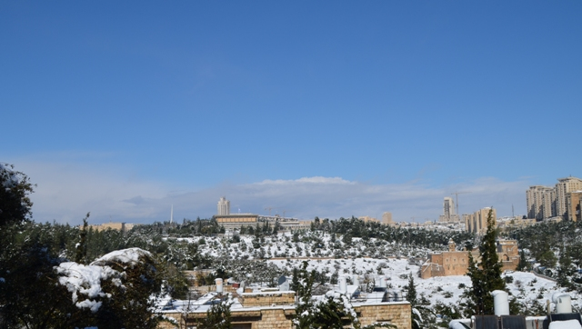 Jerusalem snow photos