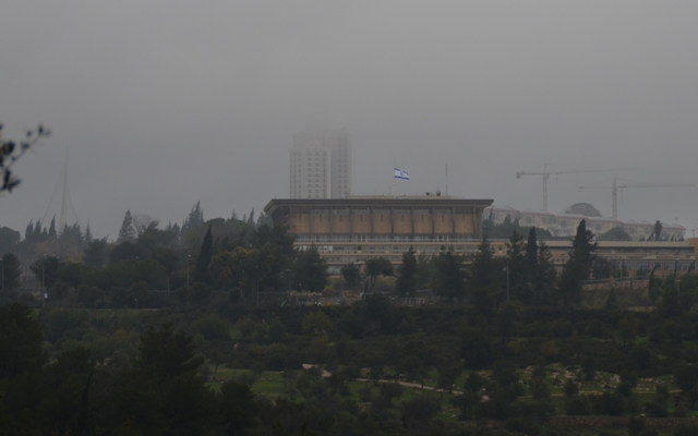 stormy weather Jerusalem