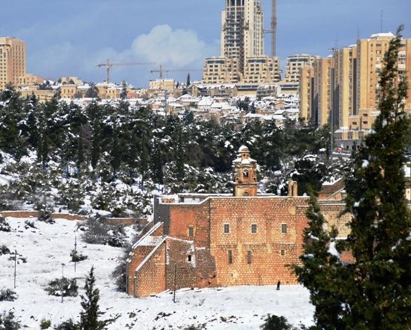 Jerusalem in snow photo
