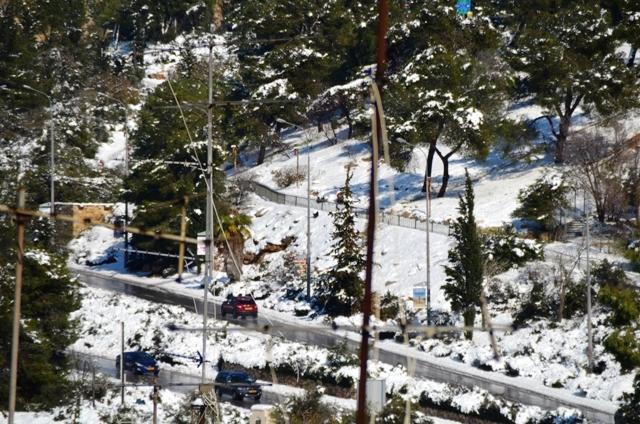 Jerusalem snow photos