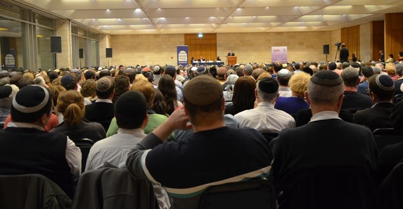 Jerusalem book fair crowd