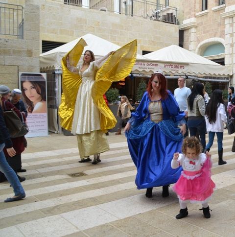 Purim costumes in Jerusalem