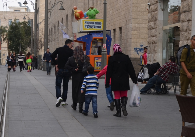 Palestinian family in Jerusalem