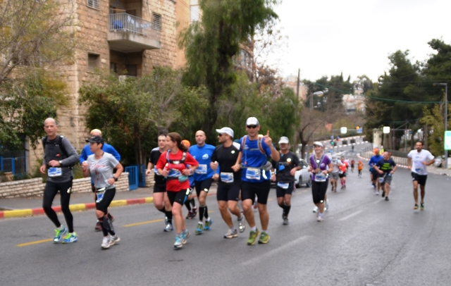 marathon runners photo, Jerusalem
