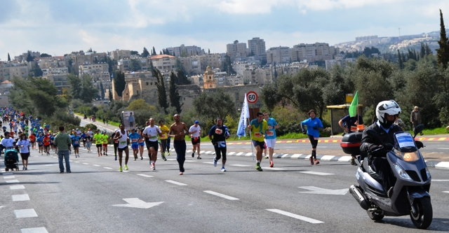 runners in race image, Jerusalem marathon