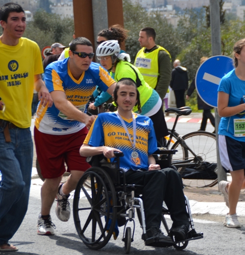 wheel chair in race