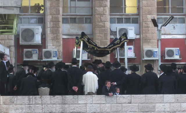 Jewish wedding , Jerusalem street scene