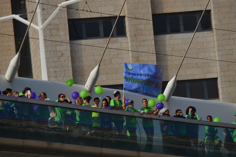 ALeh Jerusalem on string bridge
