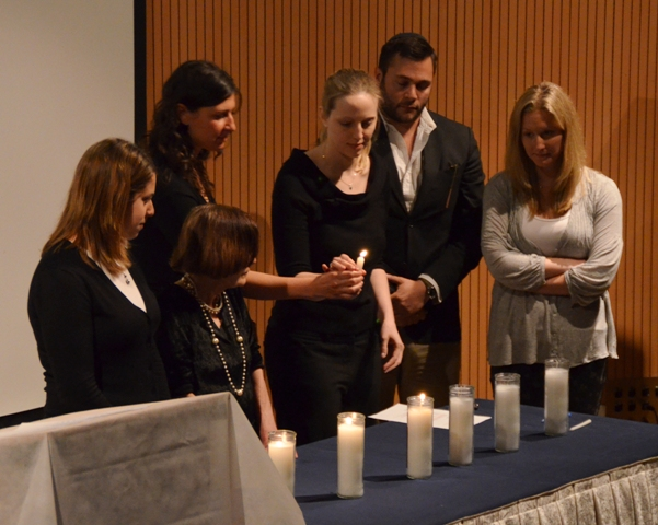 photo of lighting candles Yom Hashoah