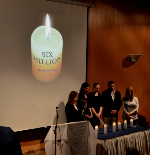 photo candle for Holocaust program