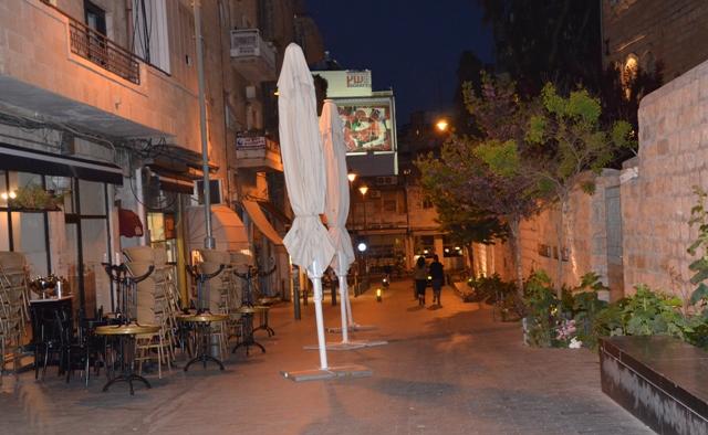 Dark street Israel