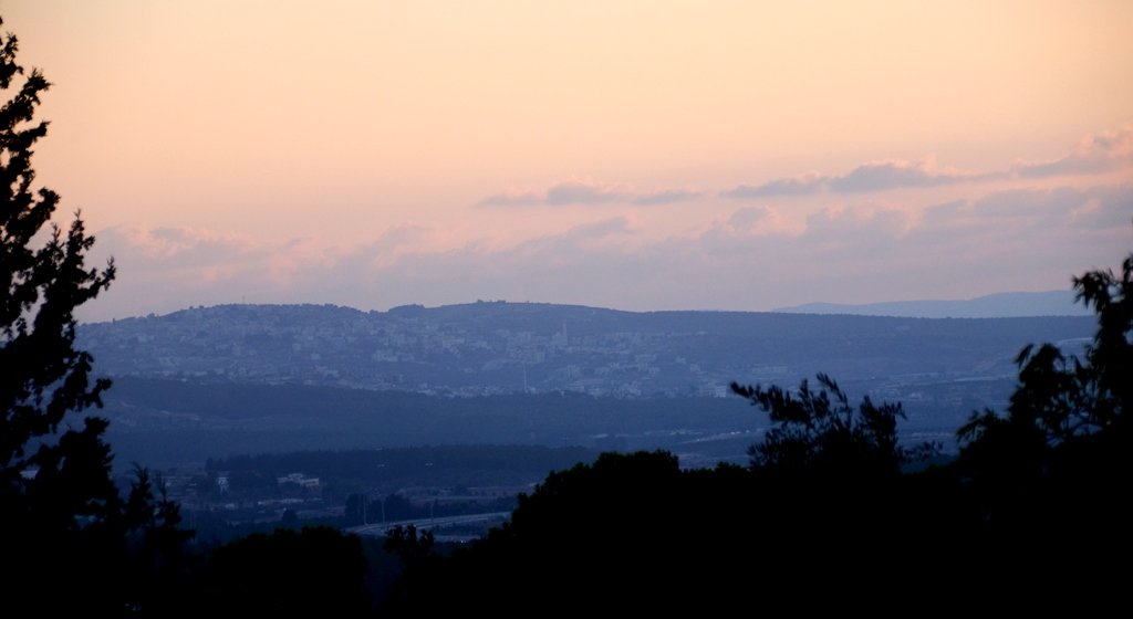 Sunset view of Galilee