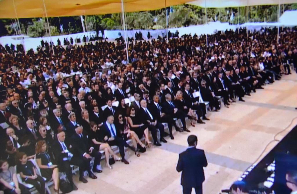 crowd at funeral