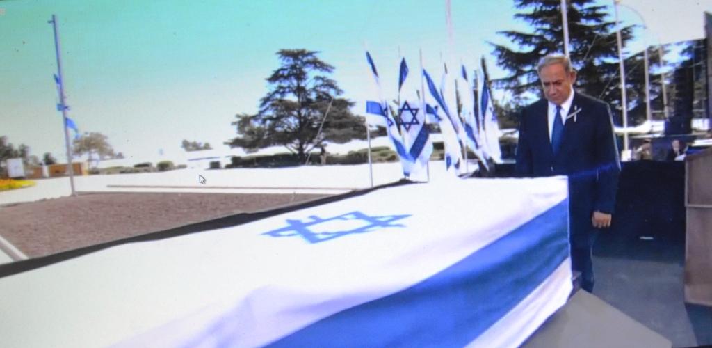 funeral Peres Benjamin Netanyahu