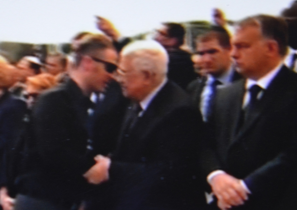 Mahahumd Abbas at funeral in Jeusalem