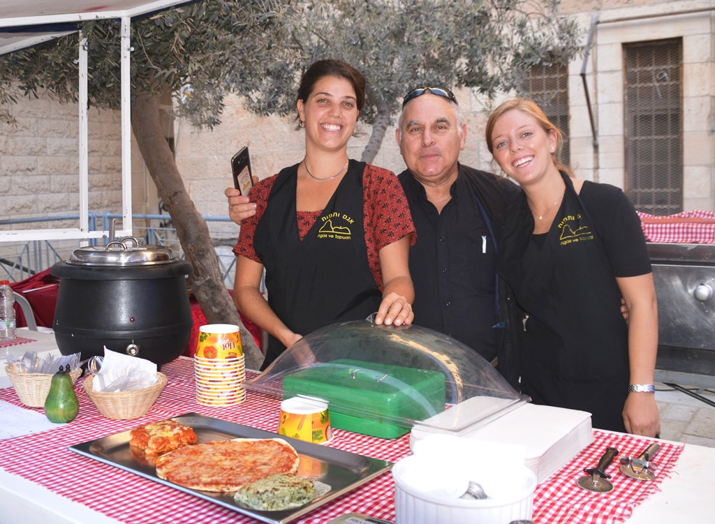 Pizza, Pear and Apple restaurant owner at Italian festival