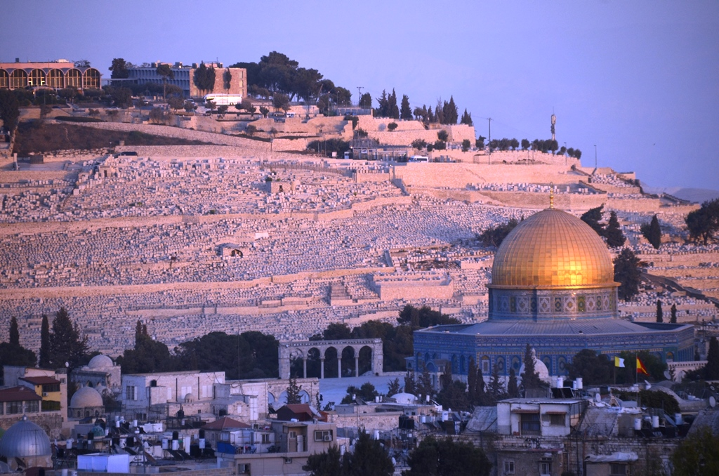 Jerusalem Israel Mount Olives Old city dome of rock