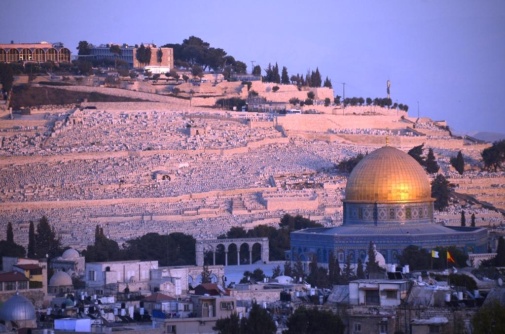 Jerusalem Israel Mount Olives Old city dome of rock