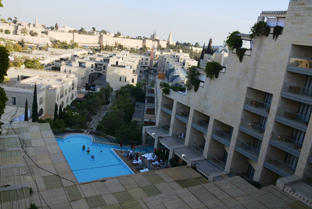 Jerusalem Israel Citadel Hotel view of Old City and sukka