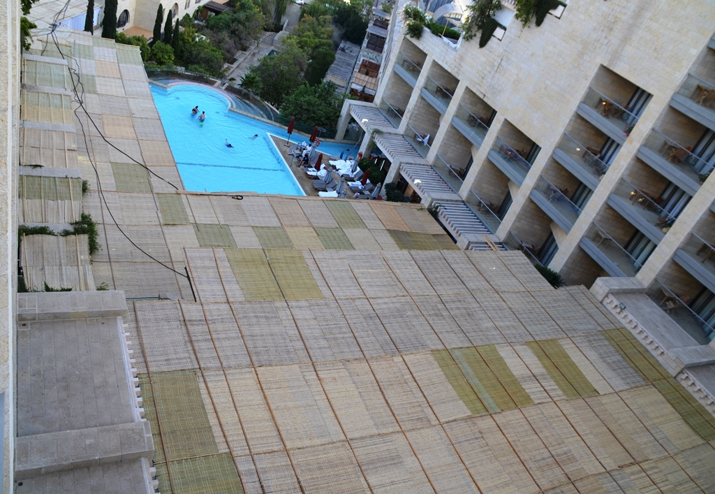 Sukka of Citadel Hotel from above