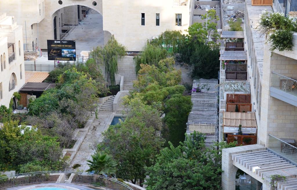 view of sukkot from Citadel Hotel Jerusalem