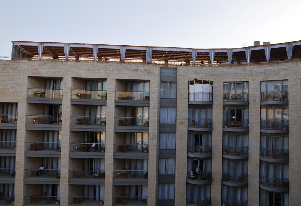 Sukkahs on top of Citadel Hotel