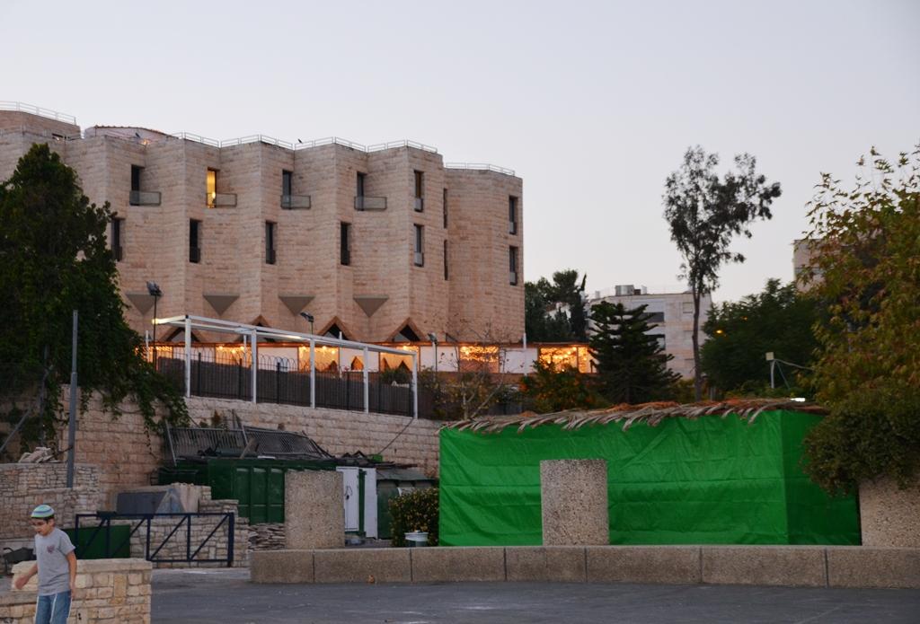 sukkah in Liberty Bell Park Jerusalem Israel