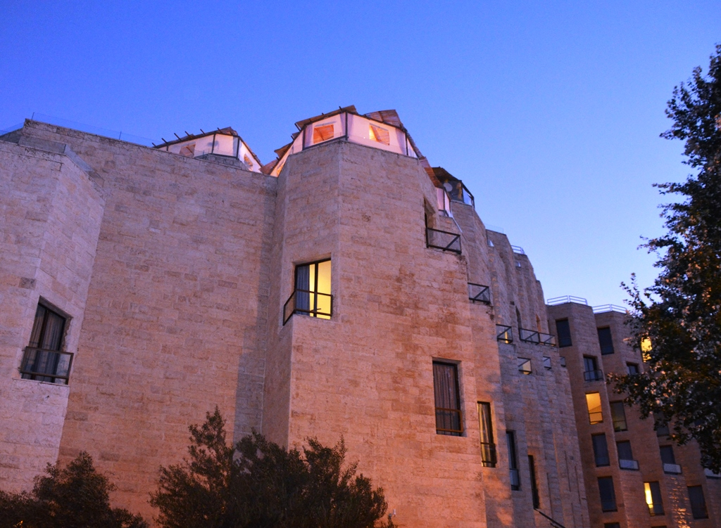 Private sukka on top of Inbal Hotel Jerusalem Israel