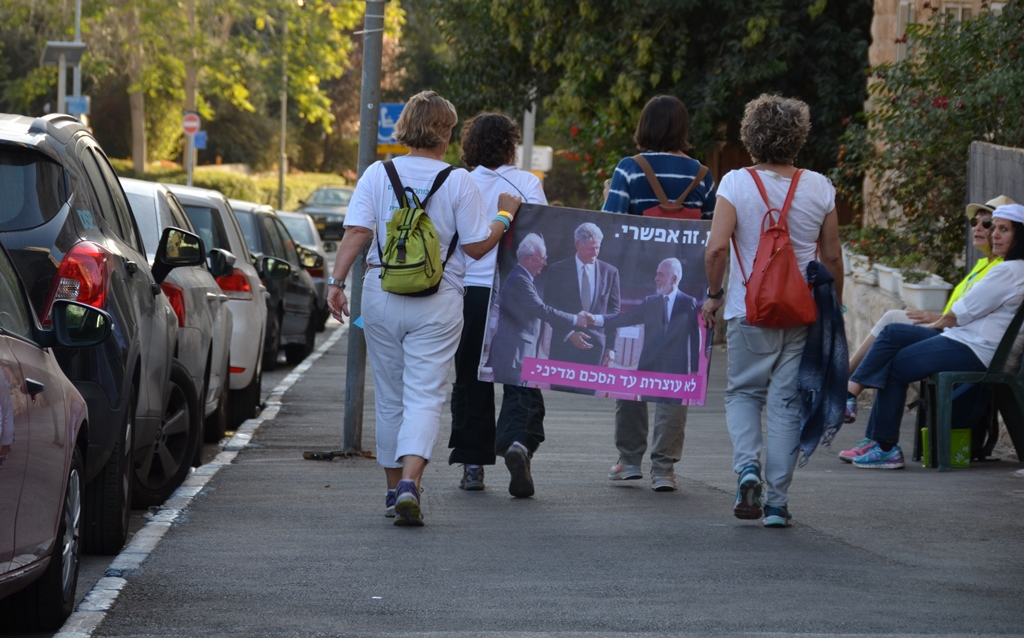 Jerusalem protest women who walked for peace