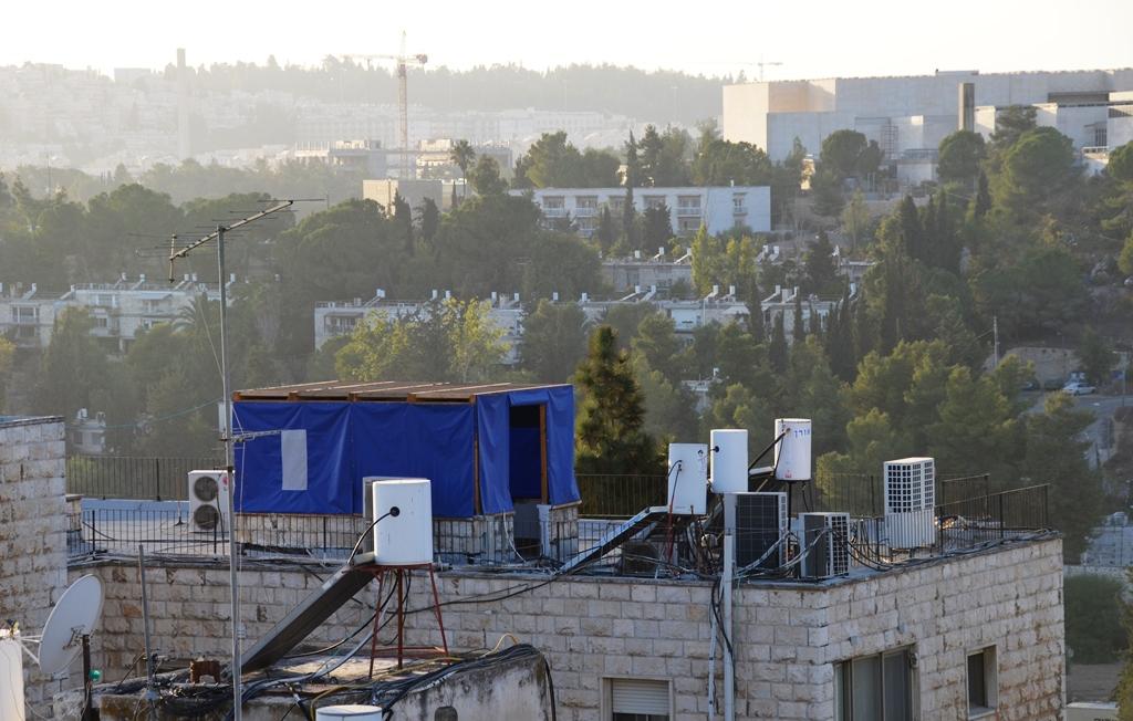 sukkah on roof top Jerusalem Israel